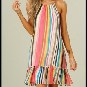 NWT Listicle striped halter dress